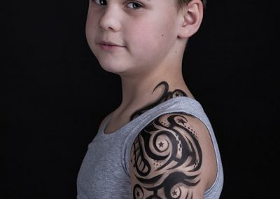 Whoop Designs en Sasha Goossens  Tattoo Shoot Kevin